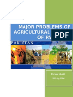 Major Problems of Agriculturalsectorof Pakistan