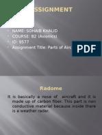 Parts of Aircraft