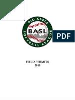 2010 BASL Spring Field Permits