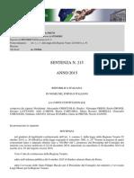 Elettrodotti Pronuncia 215 2015 Corte Costituzionale