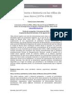 Clase, territorio e historia en las villas de Buenos Aires (1976-‐1983)