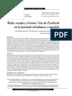 Redes sociales y jóvenes. Uso de Face book en la juventud colombiana y española