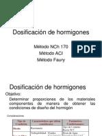 5 Dosificación de Hormigones