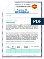 Practica 1 Lab de Bioquimica II (Bioseguridad)