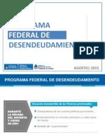 Argentina - Programa Federal de Desendeudamiento 2015