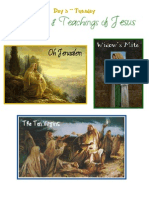 Day 3 - Tuesday, Parables and Teachings of Jesus Christ