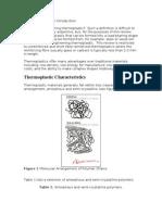 Thermoplastics Summary