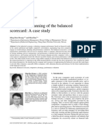 Design andDesign and planning of the balanced scorecard - A case study Planning of the Balanced Scorecard - A Case Study