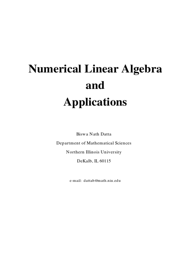 Numerical linear algebra biswa nath datta part i ch1 6 numerical linear algebra biswa nath datta part i ch1 6 eigenvalues and eigenvectors matrix mathematics fandeluxe Images