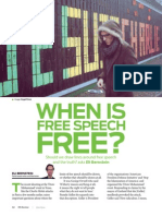 When is Free Speech Free?