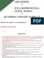 Dijahronijska morfologija 2013.