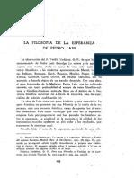 Pedro Laín Entralgo -y su filosofía de La Esperanza