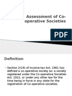 Assessment of Co-operative Societies