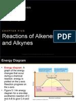 Reactions Alkenes & Alkynes