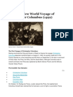 The First New World Voyage of Christopher Columbus
