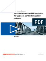 Customizationbmc Analytics for Business Services Magement Universe