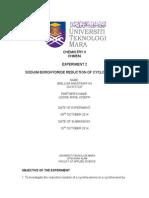 SODUIM BOROHYDRIDE REDUCTION OF CYCLOHEXANONE