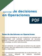 Toma de Decisiones en Operaciones