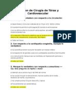 Examen de Cirugía de Tórax y Cardiovascular. HAHT
