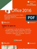 Presentacion Office 2016