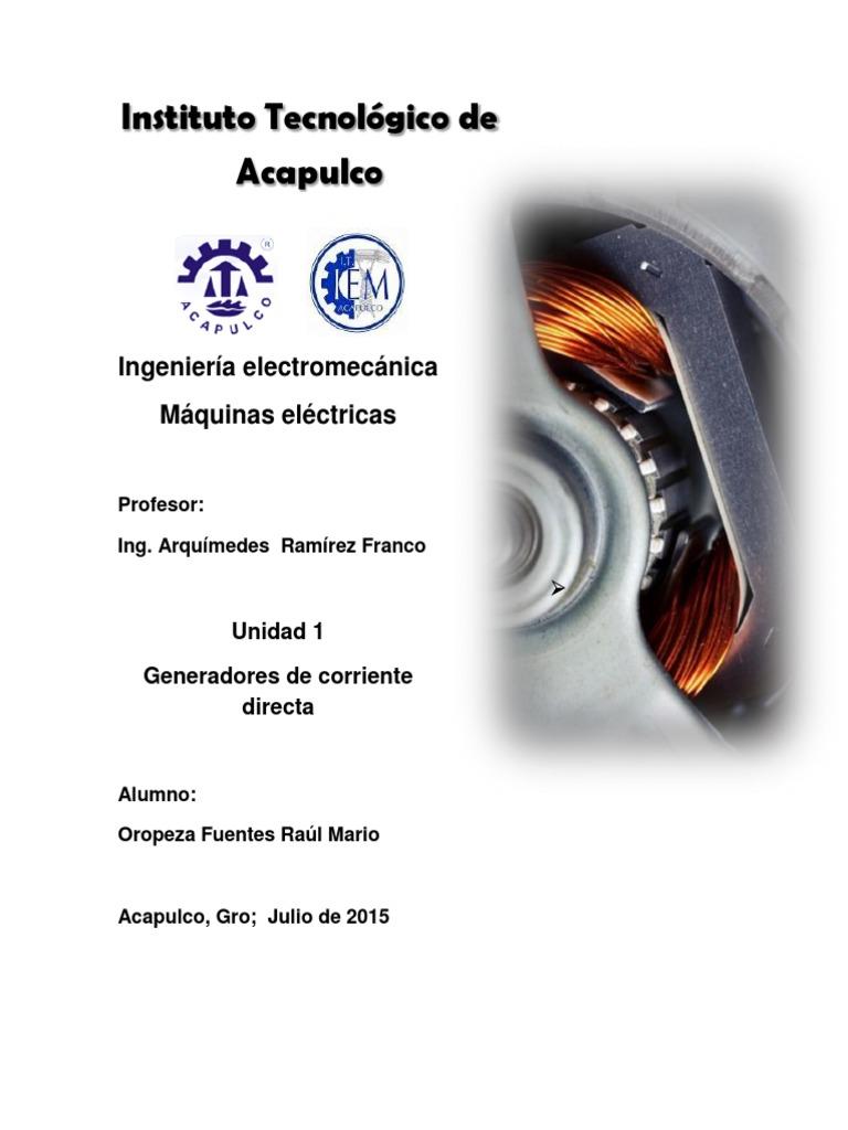 Unidad 1 generadores de corriente directa pdf - Generadores de corriente ...