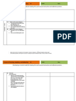 a cycle of planning application and reflecting worksheet