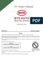 BYD F0 Owner's Manual20110607 En
