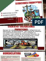 Cuenta 45 Obligaciones Financieras