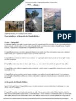 Uma Introdução à Geografia Do Mundo Bíblico __ Exegese Bíblica
