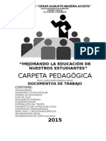 Carpeta Pedagogica Actualizada 2015..