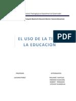Uso de La Tic en La Educacion