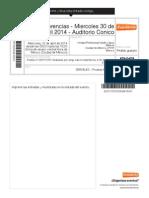 Miercoles -Auditorio ConicoSERVELEC - Pruebas Electrica