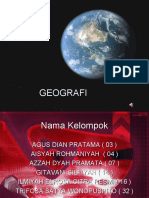 GEOGRAFI - teori lempeng tektonik