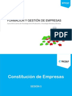 Sesión 5 Constitución de Empresas