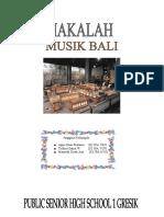 Makalah Musik Bali