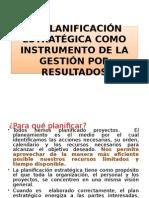La Planificación Estratégica Como Instrumento de La