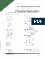 a1 answers fall prac final