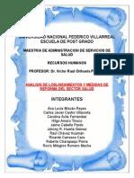 ANALISIS DE LOSLINEAMIENTOS Y MEDIDAS DE REFORMA DEL SECTOR SALUD