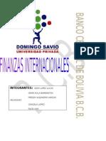 Finanzas Internacionales Banco Centra de Bolivia