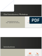 Chef Introductory Workshop