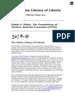 Dolan - Foundations of Modern Austrian Economics