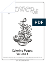 Flowers Coloring Pages Vol 4