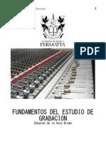 Fundamentos del estudio de grabación