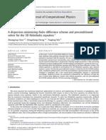 A Dispersion Minimizing Finite Difference Scheme and Precond - Chen Et Al - 2012