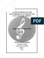 La Musica Popular en La Formacion en La Formación de Dios en El Creyente