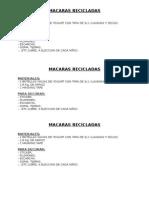 Tarea Nº5 - Macaras Recicladas