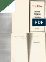T. S. Eliot Tierra Baldía (Versión de Ángel Flores)