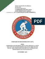 Documentos Seminario Reingenieria Lic Admon Educativa Actualizado (1)