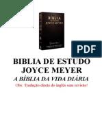 Biblia de Estudo Joyce Mayer