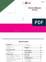 LG GW-305 Service Manual